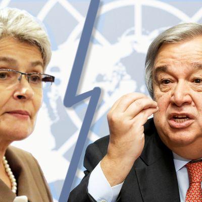 Irina Bokova ja Antonio Guterres