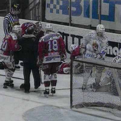 Jaroslav Otevrel loukkaantui vakavasti helmikuussa 1996.