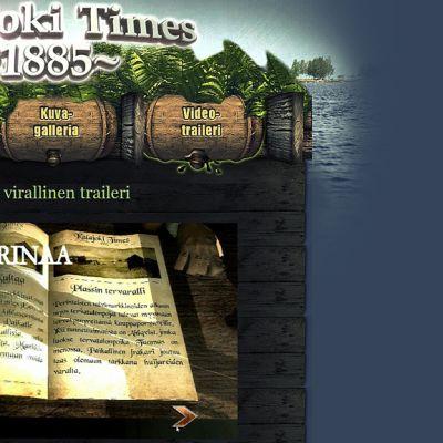 Kuvassa opiskelijoiden kehittämä videopeli