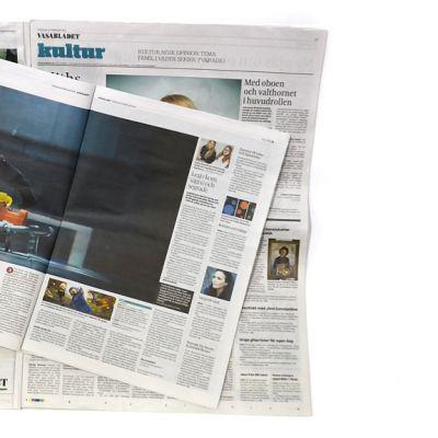 Vasabladet broadsheet- ja tabloid-koossa.