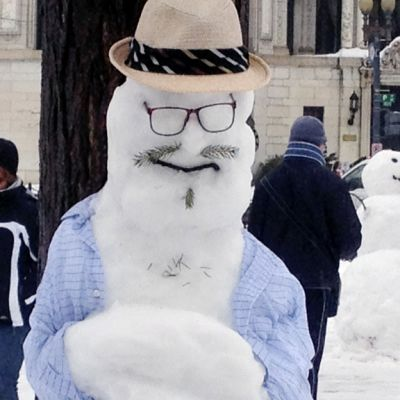 Lumiukkopuisto Washingtonin Dupont Circlella.