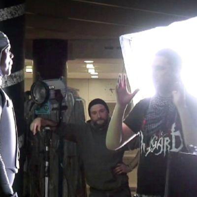 Iron Sky -elokuvan kuvaukset.