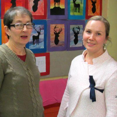 Erityislastentarhaopettaja Christel Sandell ja erityisopettaja MiraTallgård.