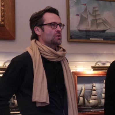 Rauma Festivon taiteellinen johtaja Jan Söderblom ja uusi toiminnanjohtaja Anna Grundström.
