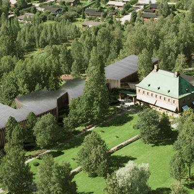 Gösta-museon laajennus-osa havainnekuva