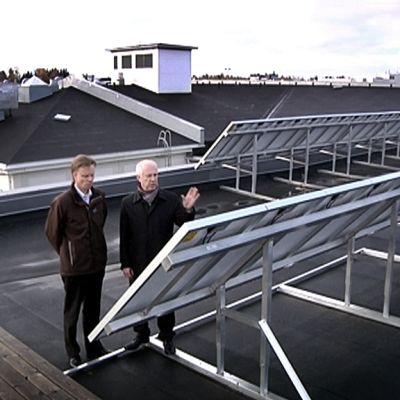 Aurinkoenergiapaneeleja.