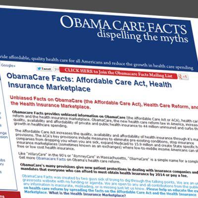 Kuvakaappaus ObamaCare-sivustolta.