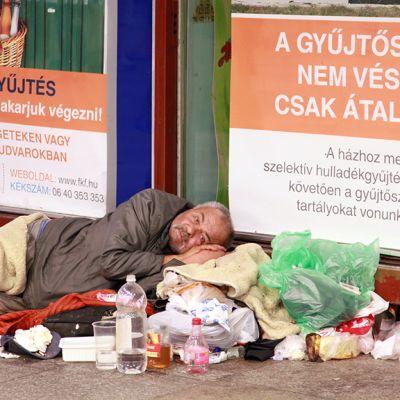 Asunnoton Budapestissä.