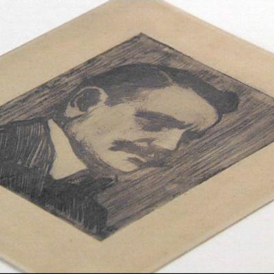 Eero Järnefeltin tekemä grafiikkavedos Jean Sibeliuksesta.