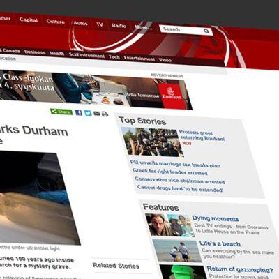 Kuvarevinnäinen BBC:n nettisivuilta jutusta, joka käsittelee Durhamin katedraalin lattian alta löytynyttä pullopostia.