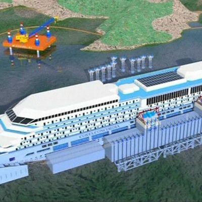 Havainnekuva Costa Concordian nostosuunnitelmista