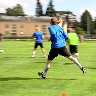 JJK harjoitteli Harjulla heinäkuussa 2013.