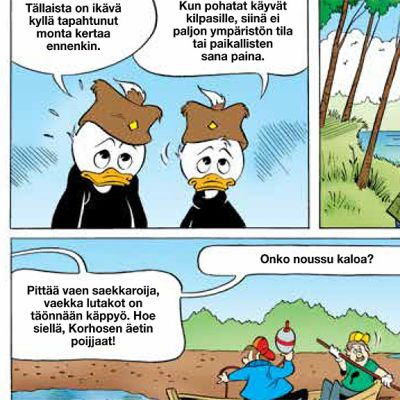 Kainuulaisessa Aku Ankassa Talvivaaran nikkelikaivos on vaihtunut käpyöljytehtaaksi.