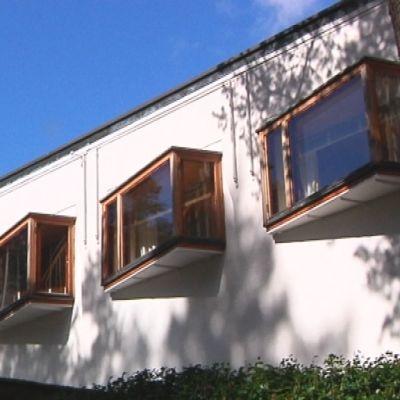Villa Mairea kartanon julkisivu