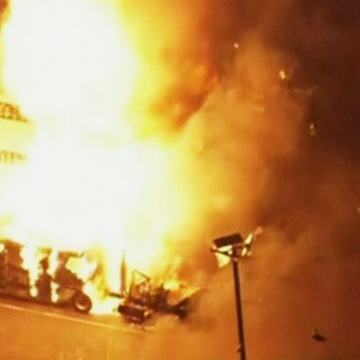 Kaasuntuotantolaitos räjähti Floridassa 29. heinäkuuta 2013.