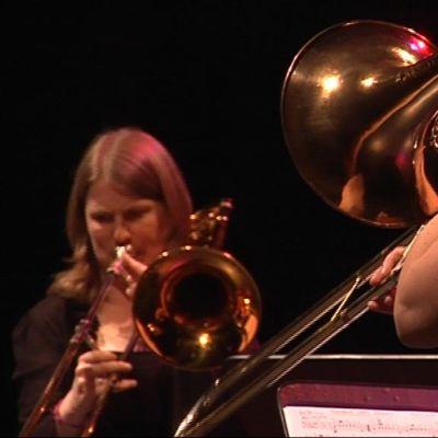 Pasunisteja Brahe-salin konsertissa Vaskiviikolla 2008.
