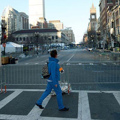 Boston pommi-iskun jälkeisenä aamuna.