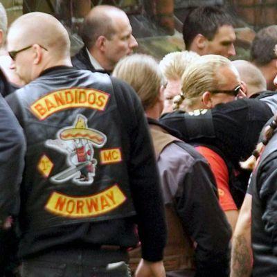 Eri maiden Bandidos-moottoripyöräjengien jäseniä Tanskassa.