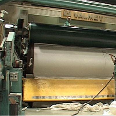 Paperikone UPM:n Kaipolan tehtaalla Jämsässä.