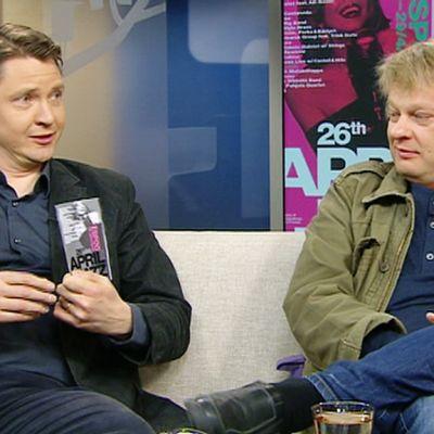 April Jazzin toiminnanjohtaja Matti Lappalainen ja vakioesiintyjiin kuuluva Iiro Rantala.