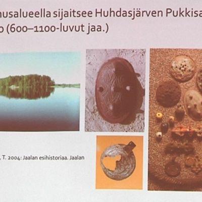 Kuvia esihistorialliselta ajalta nykyisen Jaalan alueelta.