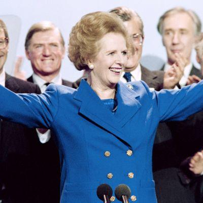 Margaret Thatcher vuonna 1989.