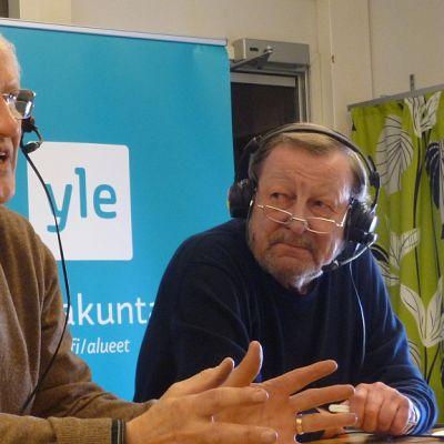 Antti Heikkilä ja Jouko Färd Yle Satakunnan studiossa.