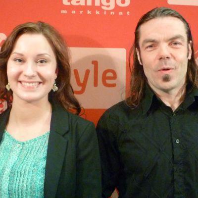 Ida Pousi ja Markus Kinnunen osallistuivat Tangomarkkinoiden Oulun karsintaan 9.4.2013.