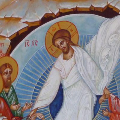 Kristuksen ylösnousemus -ikoni.