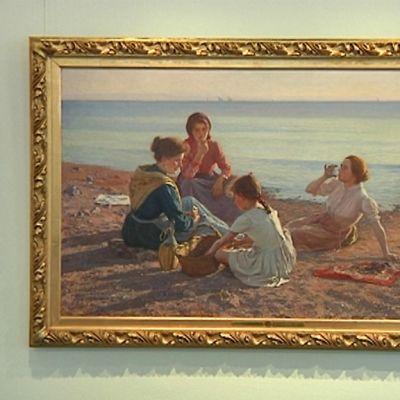 Elin Danielson-Gambogin teos Meren rannalla