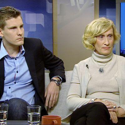 Urheilun markkinointiin ja johtamiseen perehtynyt tutkimuspäällikkö Arto Kuuluvainen Turun yliopistosta ja Sinebrychoffin viestintäjohtaja Marja-Liisa Weckström.