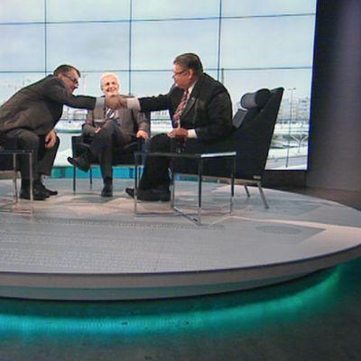 Juha Sipilä ja Timo Soini vierailevat A-studiossa.
