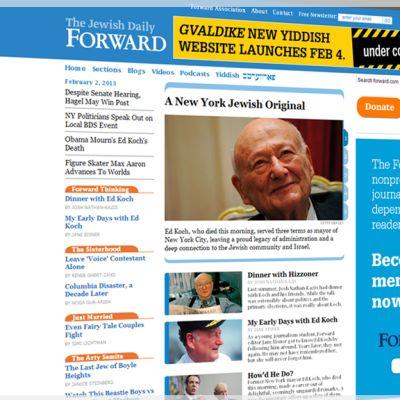 Kuvarevinnäinen The Forward -lehden nettisivustosta.