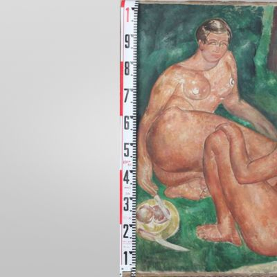 Francis Picabian nimellä signeerattu työ.