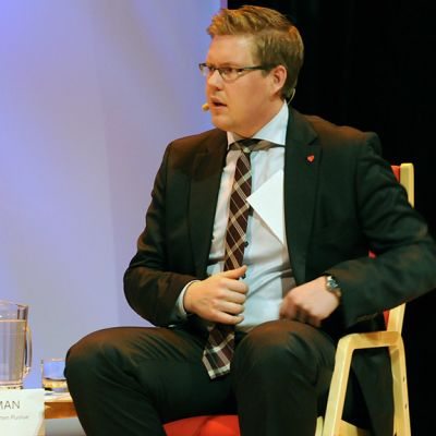 Antti Lindtman at an election panel in October 2012.