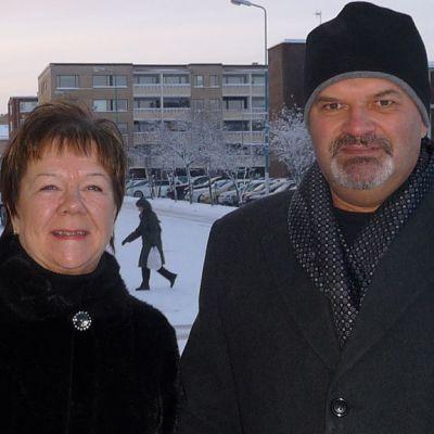 Hyrynsalmelaiset Tarja ja Raino Keränen.