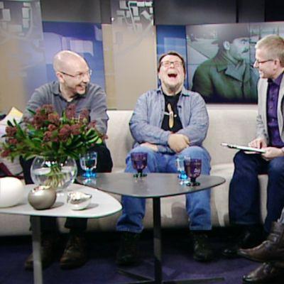 Jouni Vikman, Esko Rautakorpi ja Jutta Sarhimaa
