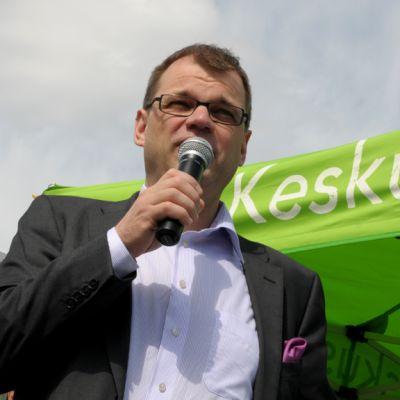 Keskustan puheenjohtaja Juha Sipilä.