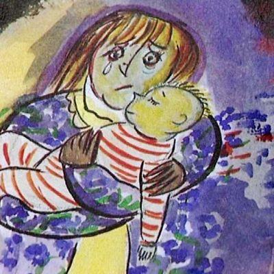 Kuva Margareta Thunin  ja  Cris af Enehielmin lastenkirjasta Enkelimuksu.