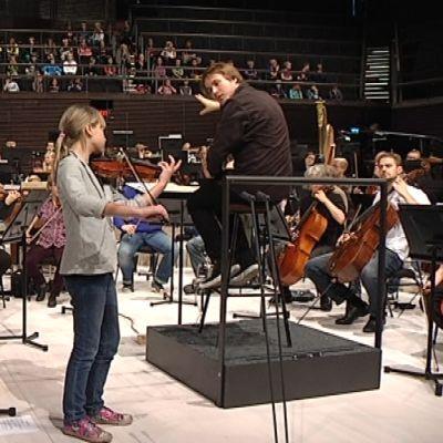 Helsingin kaupunginorkesterin Juniorikonsertin harjoitukset