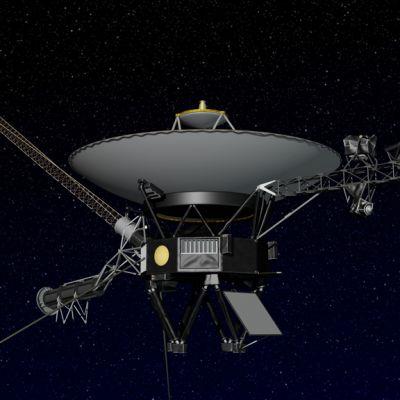 Tietokonemallinnos Nasan Voyager-luotaimesta.