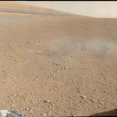 Nasan Curiosity-mönkijän 9.elokuuta lähettämä kuva Marsin pinnasta.
