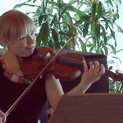 Viulisti soittaa viulua
