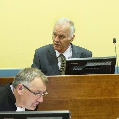 Ratko Mladic Haagissa 16. toukokuuta 2012.