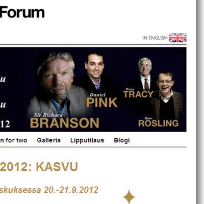 Kuvakaappaus Nordic Business Forumin sivuilta.