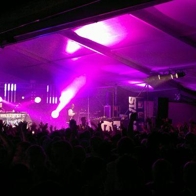 Näkymä Blockfestin lavalle