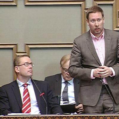 Kulttuuriministeri Paavo Arhinmäki.