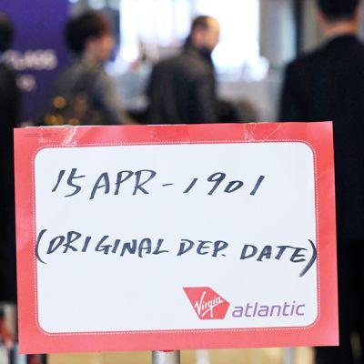 Virgin Atlantic -yhtiön opaskyltti lähtöselvityksessä Naritan kansainvälisellä lentoasemalla Japanissa.