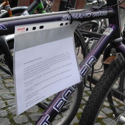 Polkupyörän ilmoitus