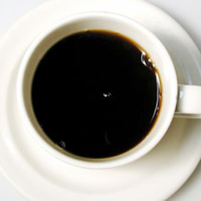Kahvikuppi ylhäältä.